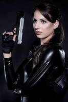 Lara Croft close-up by Lena-Lara