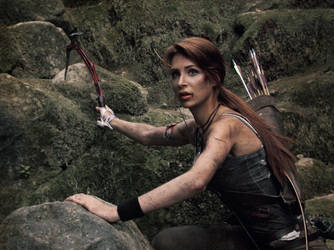 Lara Croft Climbing by Lena-Lara