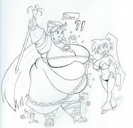 Palutena suffers Shantae's Thicc Spell by dilios999