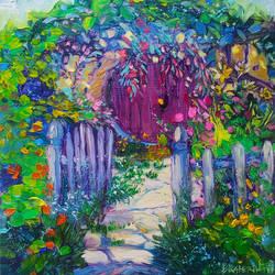 Hobbitton Original Oil Painting Ekaterina Chernova by EkaterinaChernova