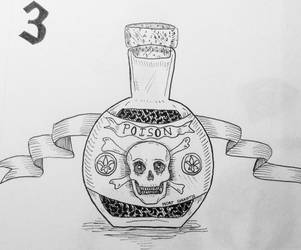 Inktober day 3 Poison by Sciencechips