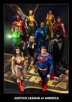Justice League of America by DouglasShuler