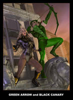 GREEN ARROW and BLACK CANARY by DouglasShuler