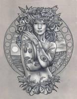 Avocado Goddess by benke33