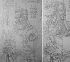Listen 6 work in progress - canvas sketch out by benke33