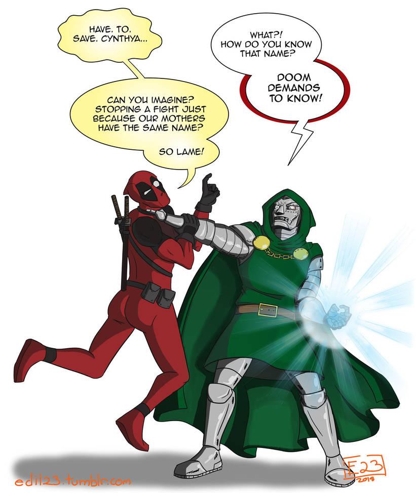 Deadpool vs. Doctor Doom by Edil23