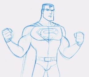Superman sketch by EadgeArt