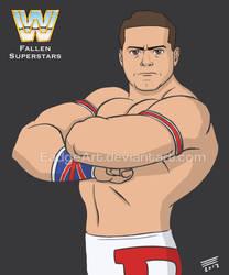 WWE Fallen Superstars: The British Bulldog by EadgeArt