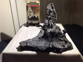 Frazetta Tribute Sculpture Kevin Banic Burroughs by AnulkaD