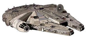 Millennium Falcon by MattFriesen