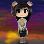 Chibi Bear Girl by fadedsheep