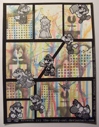 Mario Comic Pop Art by The-Tabby-Cat