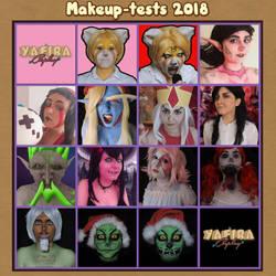 [Yafira Cosplay] Makeup-tests 2018 by Yafira