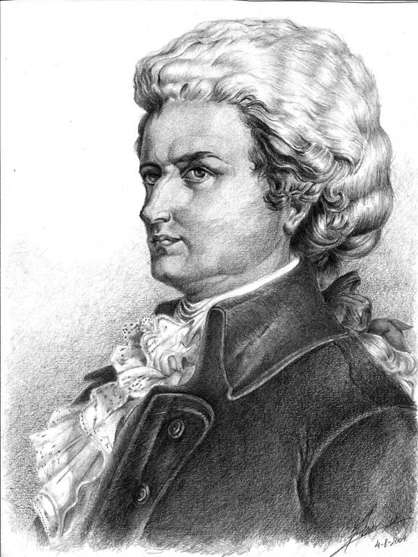 W.A. Mozart by Stael
