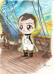Chibi Napoleon on a ship by Stael