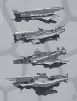 Middle class ships by Flip-Fox