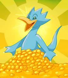 DUCKVEMBER: Gold Duck by DarkwingSnark
