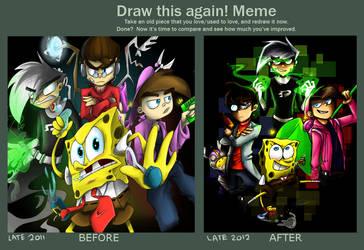 a united draw this again meme by TriggerhappyFemale