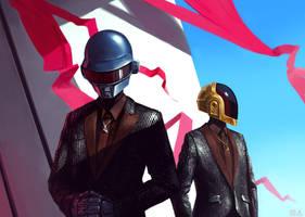 Daft Punk by polkovniknabelomkone