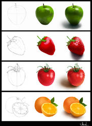 Fruits in process by Azot2018