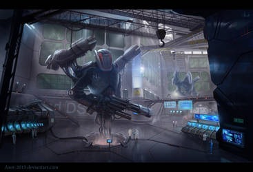 Robot`s laboratory by Azot2018