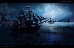 Ghost-Ship - speedpainting by Azot2018