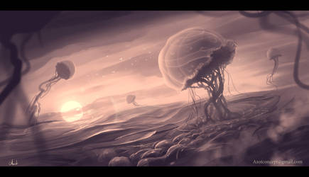 Jellyfish`s Flight by Azot2018