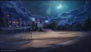 School Ground at Night by Azot2019