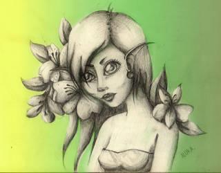 Flower elf by LonelyHunterAlura