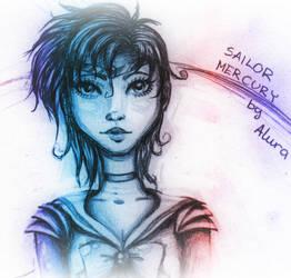 Sailor Mercury by LonelyHunterAlura