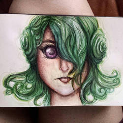green haired girl by LonelyHunterAlura