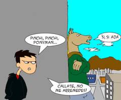Ponyman Vs Negas by Goncen