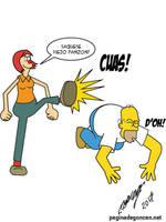 Homero Vs Borola by Goncen