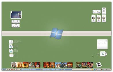 My Desktop Back2WinXP May 2011 by RazielSnake