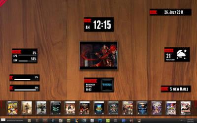 July Wood Desktop by RazielSnake