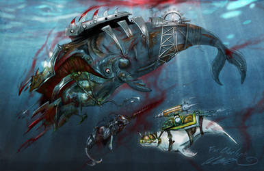 Battle Whales by BunnyBennett
