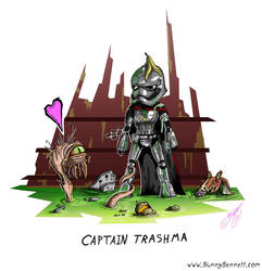 Captain Trashma by BunnyBennett