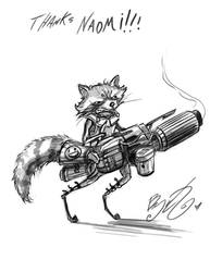Doodle - Rocket Raccoon by BunnyBennett