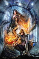 top cow  witchblade 116 cover by nebezial