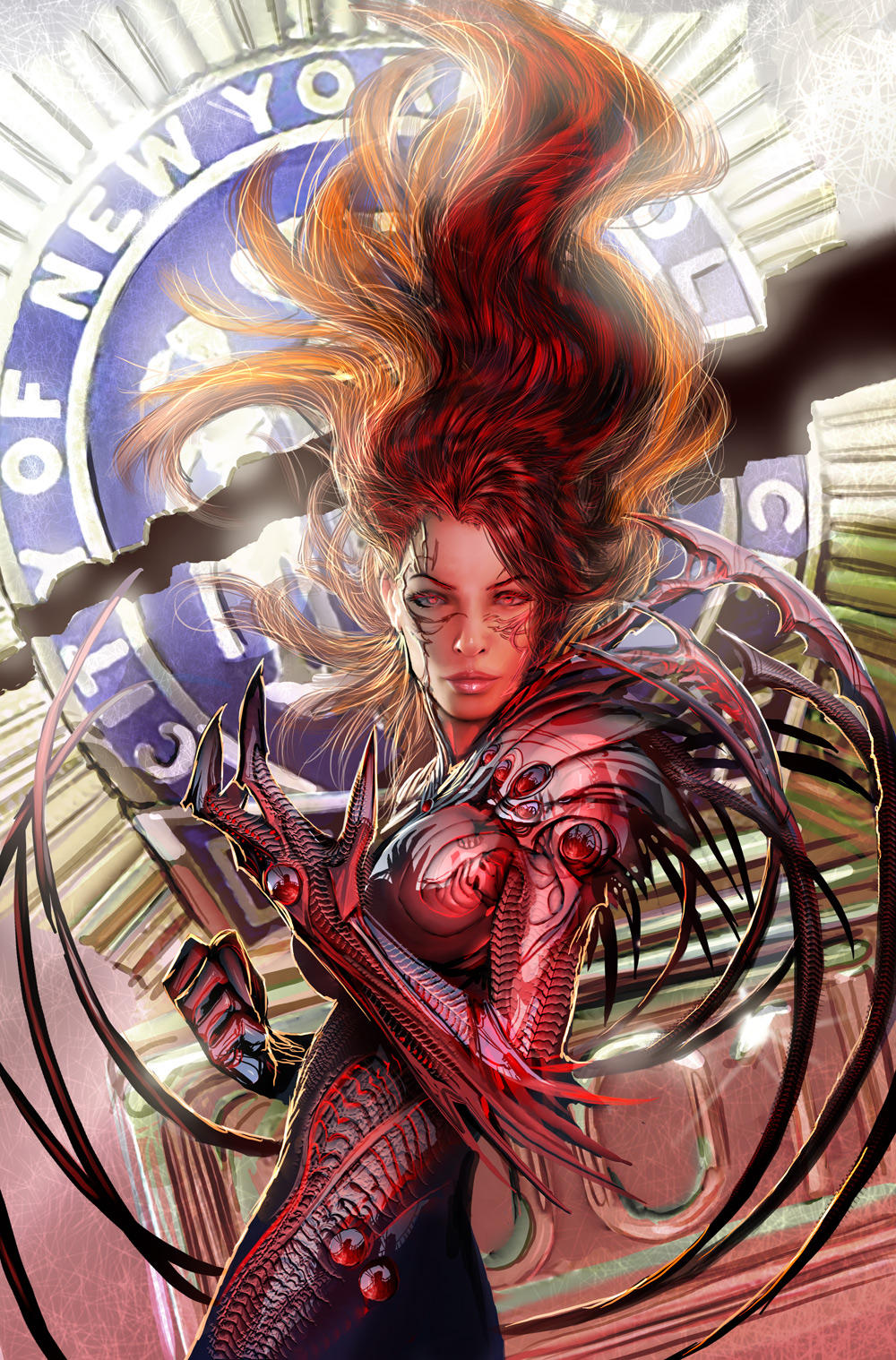 witchblade tpb 7 cover by nebezial