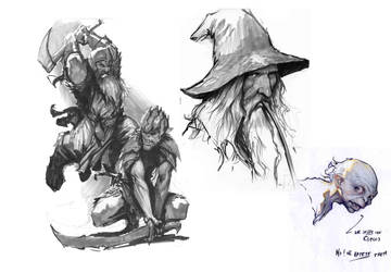 evening sketches lotr by nebezial