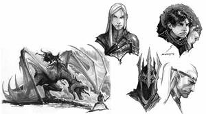 morning sketches 4 lotr by nebezial