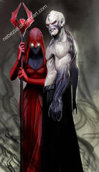 hordak and shadow weaver by nebezial