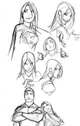 just some random comic character doodles by nebezial