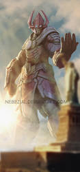 cloudy with a chance of...GALACTUS!!!!! by nebezial
