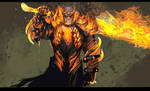 my edgelord guild wars 2 warrior :P by nebezial