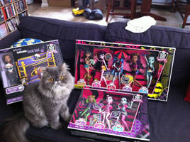 Monster High dolls and Oscar by ReignbowFright
