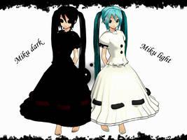 MMD Dark Light Miku DL by innaaleksui