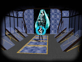 MMD accessory mirror stage by innaaleksui