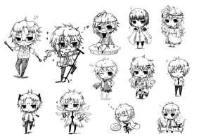 ::Chibi doodles:: by ChiakiAutumn